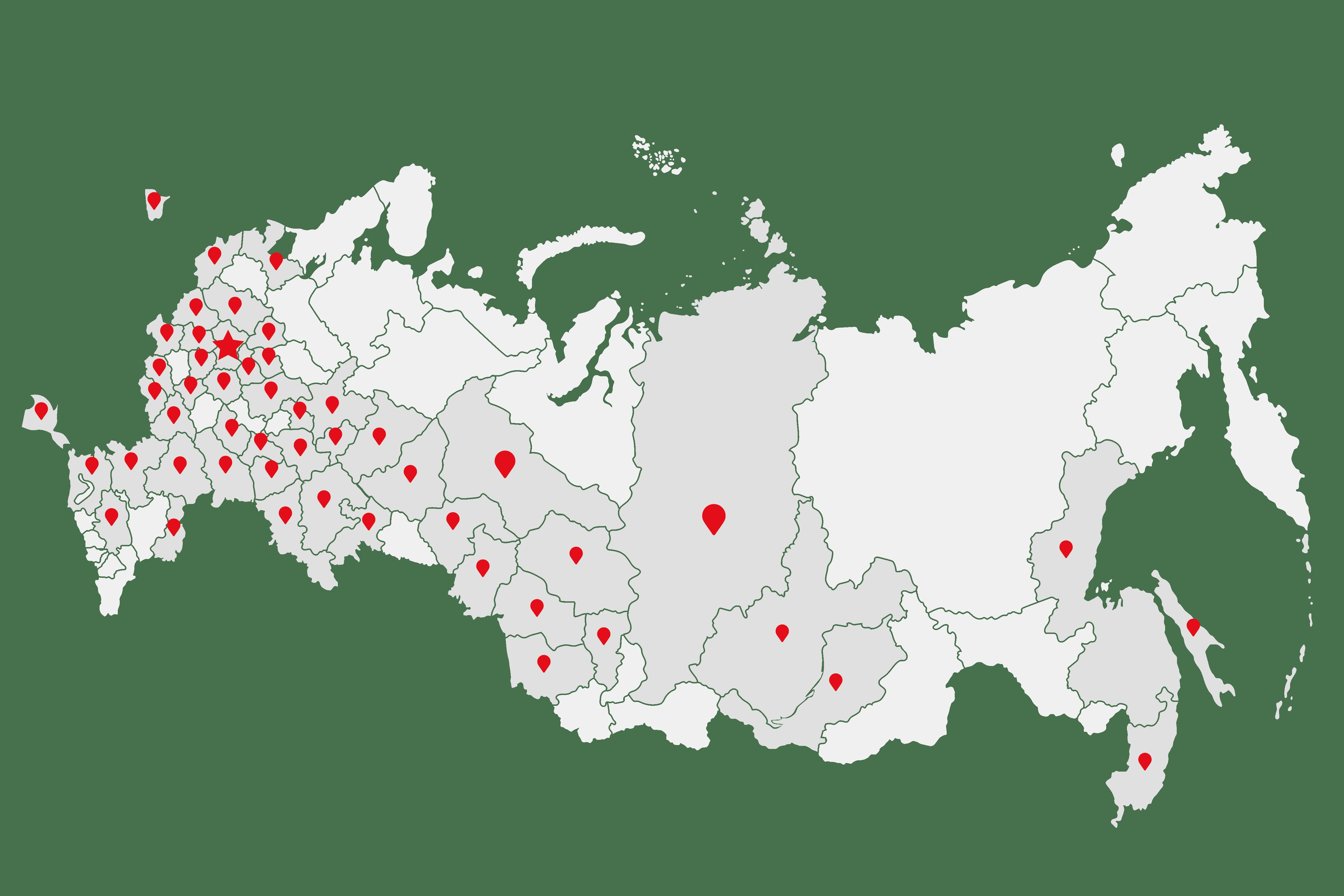 Карта офисов призыванет
